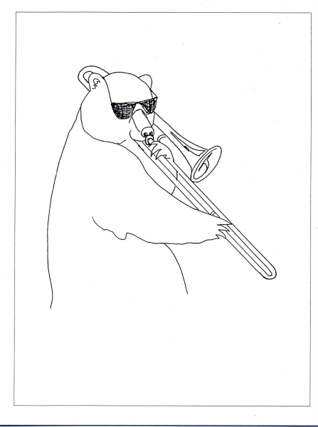 Brown Bear with Trombone